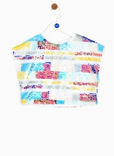 Tyess Tyess B&G Renkli Kız Çocuk T-Shirt Renkli